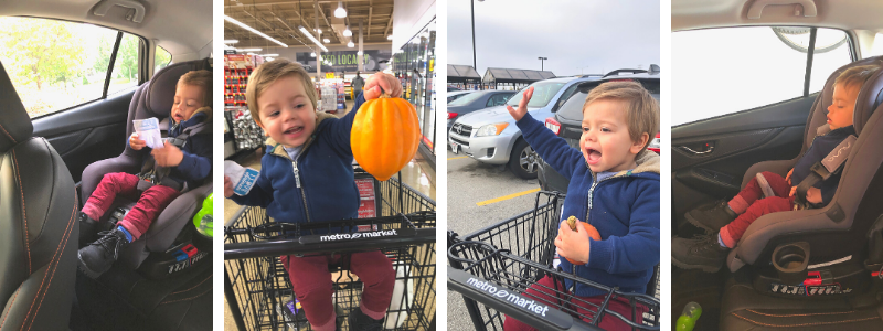 Grocery shopping with a 2 year old