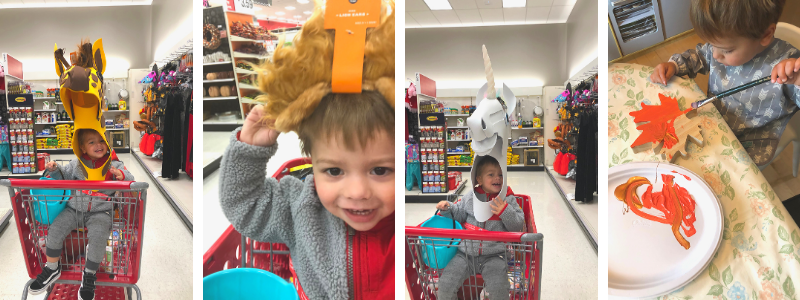 Shopping trip to Target with a toddler