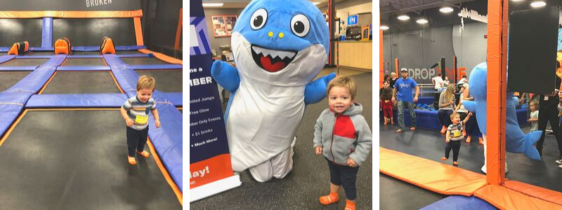Baby shark theme at SkyZone